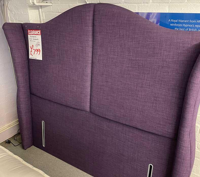Purple headboard