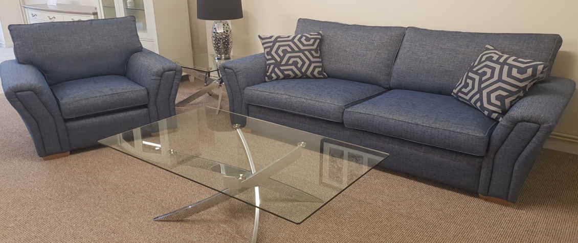 Slide-Spring-Clean Venice 3 Seater Sofa with Arm Chair
