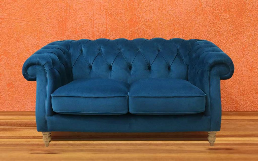rebecca buttonback sofa navy